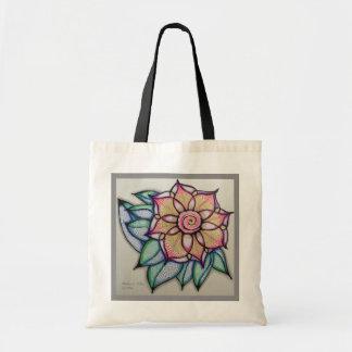 Tote w/Flower Art