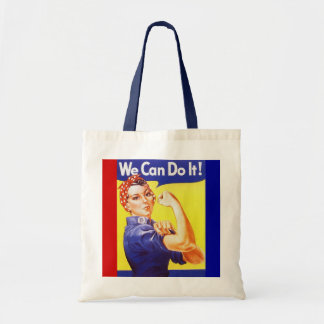 "Tote ""We Can Do It!"" Slogan Rosie the Riveter"