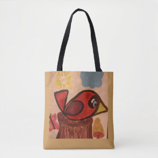 Tote with cardinal
