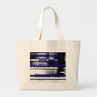 Tote with Education saying