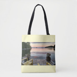 Tote with image of Great Pond in Maine