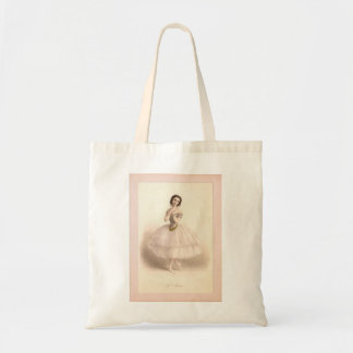 Tote with Vintage Ballerina Image