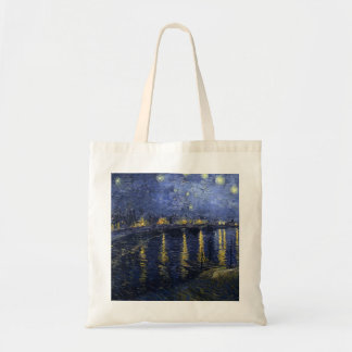 "ToteArt: Van Gogh ""TheStarry Night Over the Rhone"" Tote Bag"