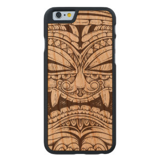 Totem Carving Face Fierce Scary Wood Carved Cherry iPhone 6 Case