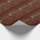 Totem Native American Folk Art Wrapping Paper