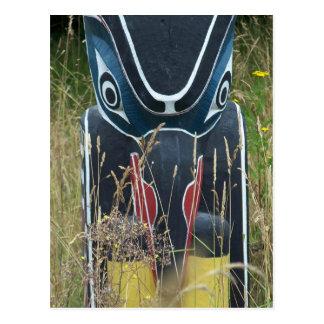 Totem Pole base Postcard