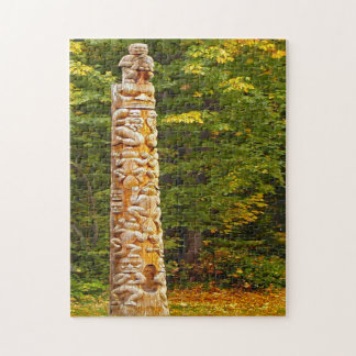 Totem Pole Vancouver. Jigsaw Puzzle