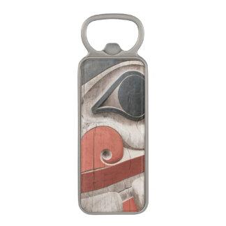 Totem poles at Haida Heritage Centre Museum Magnetic Bottle Opener