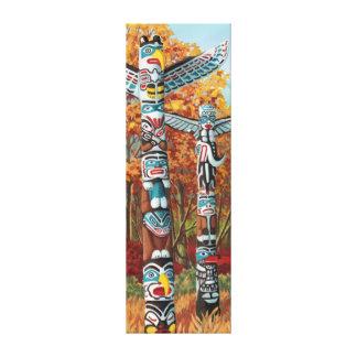 Totem Poles Painting Canvas Prints