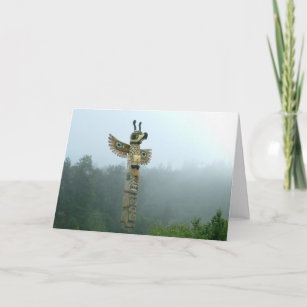 Totem Rising in the Mist Greeting Card