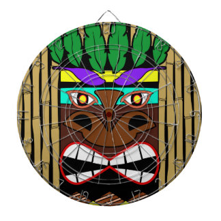 Totem With Bamboo Luau Party Dartboard