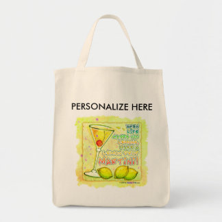 Totes, Grocery - Lemon Drop Martini Tote Bag