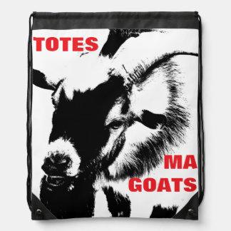 TOTES MA GOATS Drawstring Book Knapsack Drawstring Bag