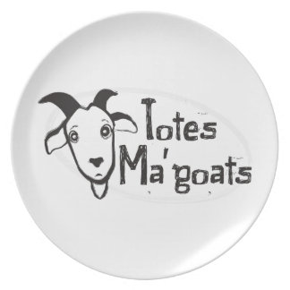 Tote's Ma' Goats Party Plate