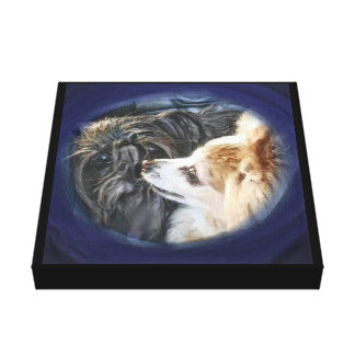 Toto and Teddie Canvas Print