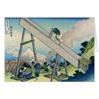 Tōtōmi Sanchū - 36 views of Mount Fuji, Hokusai Card