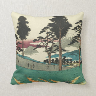 Totsuka, Japan: Vintage Woodblock Print Throw Pillow