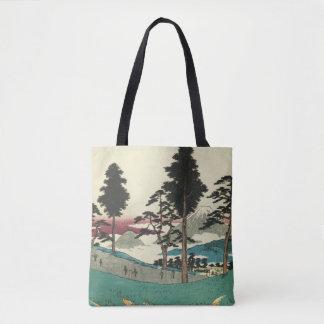 Totsuka, Japan: Vintage Woodblock Print Tote Bag
