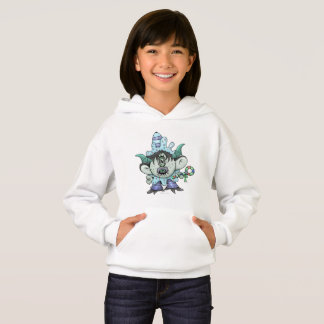 TOUBAKOU ALIEN MONSTER CARTOON Hoodie Girl WHITE