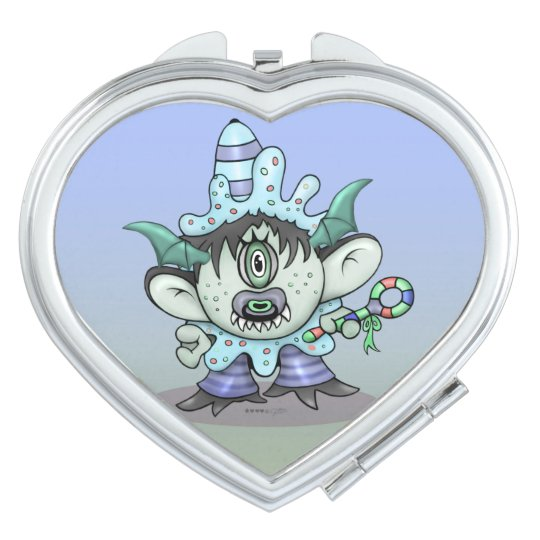 TOUBAKOU HALLOWEEN CARTOON compact mirror HEART