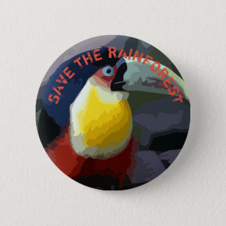 Toucan 2 Inch Round Button