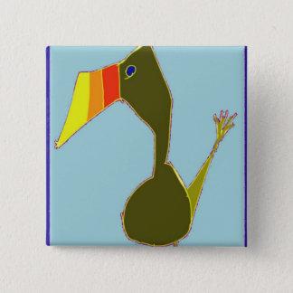 Toucan 2 Inch Square Button