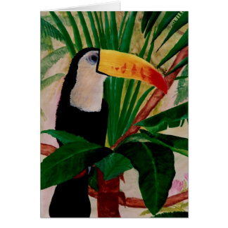 Toucan Bird Exotic Jungle Art Note Card