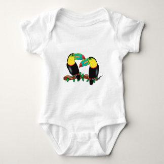 Toucan bird love art baby bodysuit