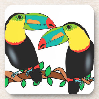 Toucan bird love art coaster