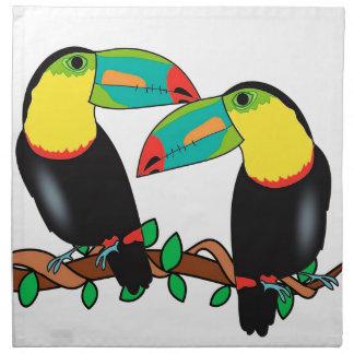 Toucan bird love art napkin