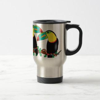 Toucan bird love art travel mug