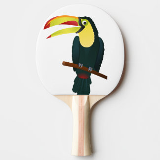 toucan bird ping pong paddle