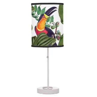 Toucan Bird Wildlife Animals Leaves Table Lamp