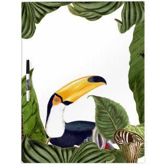Toucan Bird Wildlife Leaves Dry Erase Board