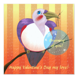 Toucan Bird with Valentine's Day wishes Card