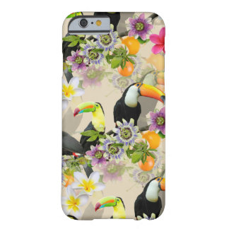 Toucan Birds, Passion Flowers, Plumeria Tropical Barely There iPhone 6 Case