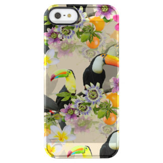 Toucan Birds, Passion Flowers, Plumeria Tropical Clear iPhone SE/5/5s Case