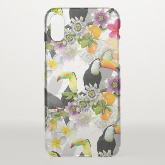 Toucan Birds, Passion Flowers, Plumeria Tropical iPhone X Case