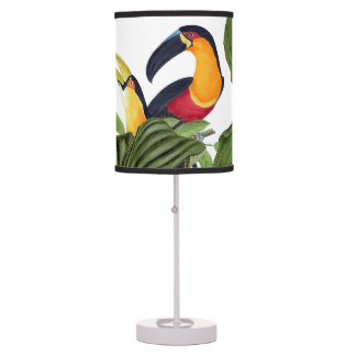 Toucan Birds Wildlife Animals Leaves Table Lamp