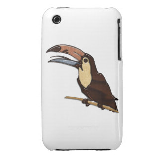 Toucan Carved of Tropical Woods iPhone 3 Case