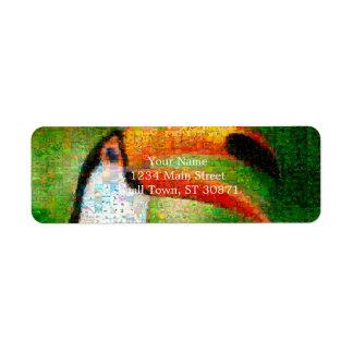 Toucan collage-toucan  art - collage art