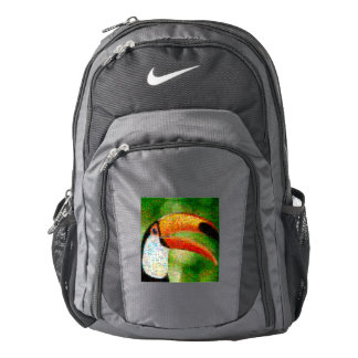 Toucan collage-toucan  art - collage art backpack
