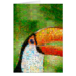 Toucan collage-toucan  art - collage art card