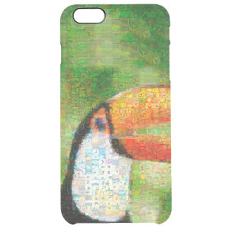 Toucan collage-toucan  art - collage art clear iPhone 6 plus case
