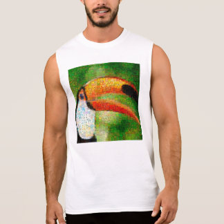 Toucan collage-toucan  art - collage art sleeveless shirt