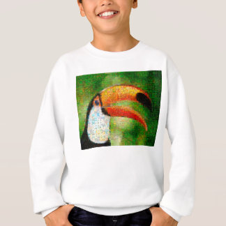 Toucan collage-toucan  art - collage art sweatshirt