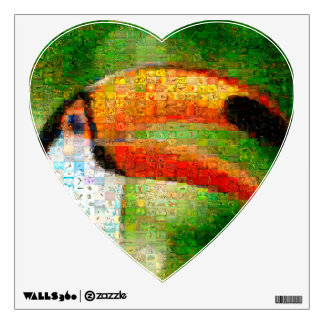 Toucan collage-toucan  art - collage art wall sticker