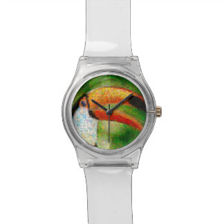 Toucan collage-toucan  art - collage art watch