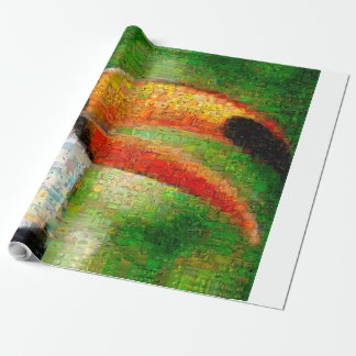 Toucan collage-toucan  art - collage art wrapping paper