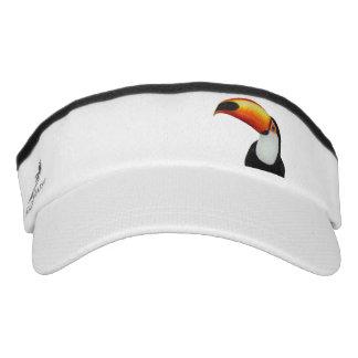 Toucan Custom Knit Visor, White Visor